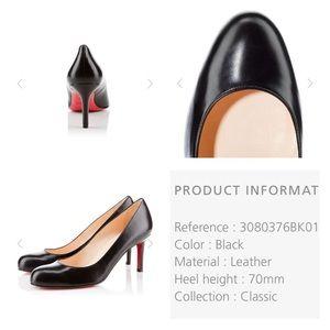 65e774e3f3e0 ... clearance christian louboutin shoes christian louboutin black simple  pump size 38.5 92279 134ba